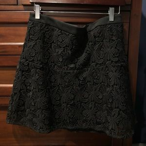 Loft Black Lace Skirt, Size Medium